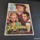 Cine: PROGRAMA DE MANO ORIG - TORTURADOS -- CINE SAN ROQUE. Lote 168273992