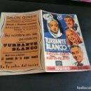 Cine: PROGRAMA DE MANO ORIG DOBLE - TURBANTE BLANCO - CINE SALON GINER. Lote 168274184