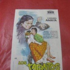 Cine: PROGRAMA DE CINE. LOS TARANTOS. CARMEN AMAYA.. Lote 168275188