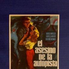 Cine: FOLLETO DE CINE EL ASESINO DE LA AUTOPISTA. SIN PUBLICIDAD.. Lote 168301712