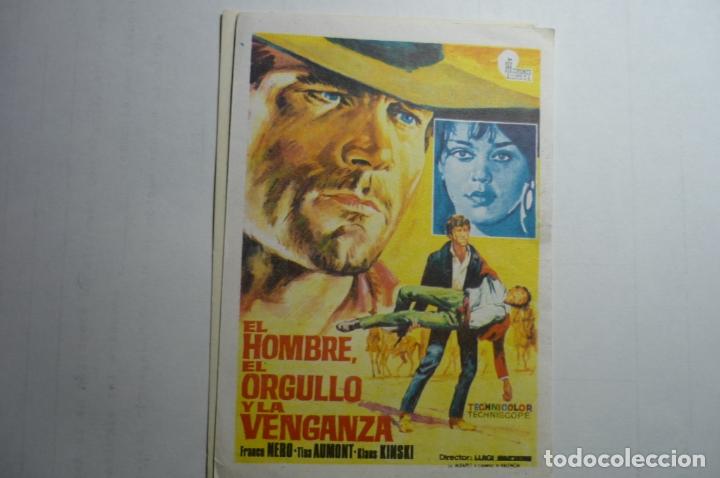 PROGRAMA EL HOMBRE EL ORGULLO Y LA VENGANZA - FRANCO NERO (Cine - Folletos de Mano - Westerns)