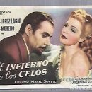 Cine: PROGRAMA DE CINE. S/P. EL INFIERNO DE LOS CELOS. PEDRO LOPEZ LAGAR, ZULLY MORENO. Lote 168340656