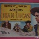 Cine: FOLLETO DE MANO PROGRAMA DE CINE AVENTURAS DE JUAN LUCAS SIN PUBLICIDAD LOTE 8. Lote 168395825