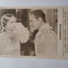 Cine: TEMPESTAD JOHN BARRYMORE FOLLETO DE MANO ORIGINAL ESTRENO . Lote 168450284