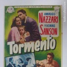 Cine: PROGRAMA DE CINE. TORMENTO. SIN PUBLICIDAD.. Lote 168457384