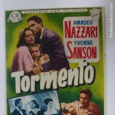 Cine: PROGRAMA DE CINE. TORMENTO. SIN PUBLICIDAD.. Lote 168457400