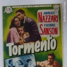 Cine: PROGRAMA DE CINE. TORMENTO. SIN PUBLICIDAD.. Lote 168457412