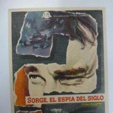 Cine: PROGRAMA DE CINE. SORGE, EL ESPÍA DEL SIGLO. SIN PUBLICIDAD. . Lote 168457528
