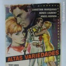 Cine: PROGRAMA DE CINE. ALTAS VARIEDADES. SIN PUBLICIDAD.. Lote 168457712