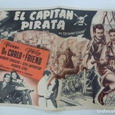 Cine: PROGRAMA DE CINE. EL CAPITÁN PIRATA. SIN PUBLICIDAD. 21 CM X 14 CM.. Lote 168457748
