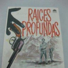 Flyers Publicitaires de films Anciens: PROGRAMA DE CINE. RAICES PROFUNDAS. ALAN LADD, JEAN ARTHUR, VAN HEFLIN. Lote 168463900