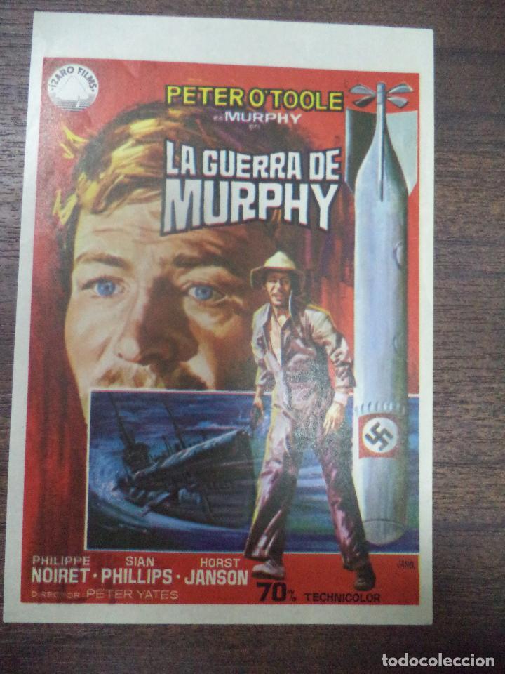PROGRAMA DE CINE S/P. LA GUERRA DE MURPHY. (Cine - Folletos de Mano - Bélicas)