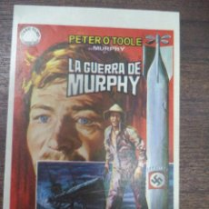 Cine: PROGRAMA DE CINE S/P. LA GUERRA DE MURPHY.. Lote 168556541