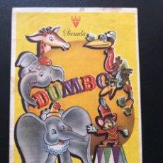 Cine: PROGRAMA WALT DISNEY DUMBO.CON PUBLICIDAD. Lote 168585762