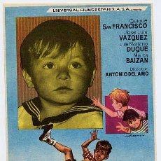 Cine: 3 TRES GORRIONES Y PICO , ORIGINAL , SENCILLO , SIN CINE , PMD 225. Lote 168610280