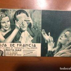 Cine: ROSA DE FRANCIA NUEVO CON PUBLICIDAD. Lote 168619600