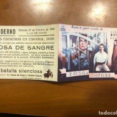 Cine: ROSA DE SANGRE NUEVO CON PUBLICIDAD. Lote 168620120