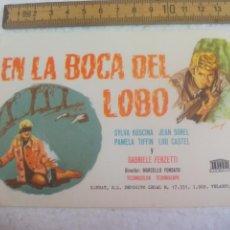 Cine: EN LA BOCA DEL LOBO. FOLLETO DE MANO, PROGRAMA DE CINE.. Lote 168636252