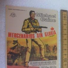 Cine: MERCENARIOS SIN GLORIA. FOLLETO DE MANO, PROGRAMA DE CINE.. Lote 168639560