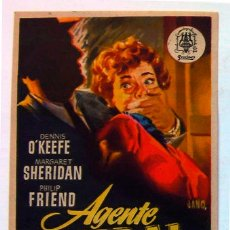Cine: ALICANTE PROGRAMA CINE AVENIDA AGENTE FEDERAL X-678 AÑO 1955-1. Lote 168700908