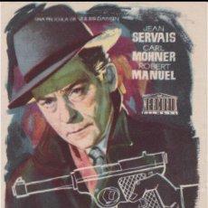 Cine: PROGRAMA DE CINE - RIFIFÍ - JEAN SERVAIS, CARL MOHNER - TEATRO BOSQUE - 1959. Lote 168750492