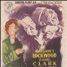 Cine: PROGRAMA DE CINE - ARMAS SECRETAS - MARGARET LOCKWOOD, DANE CLARK - CINES PRADO Y PATRONATO - 1953. Lote 168750600