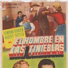 Cine: PROGRAMA DE CINE - EL HOMBRE EN LAS TINIEBLAS - EDMOND O'BRIEN - TEATRO ARTESANO - 1954. Lote 168750924