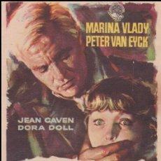 Cine: PROGRAMA DE CINE - SOFIA Y EL CRIMEN - JEAN CAVEN, DORA DOLL - CINE PATRONATO - 1958. Lote 168753476