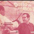 Cine: PROGRAMA DE CINE - DUELO EN LAS MONTAÑAS - RITA MACEDO, FERNANDO FERNÁNDEZ - CINE ALKAZAR (MÁLAGA).. Lote 168775340