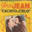 Cine: PROGRAMA DOBLE - CACHITO DE CIELO - GLORIA JEAN - CINE GOYA - 1940.. Lote 168784004