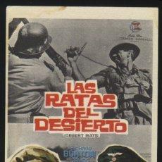 Cine: P-7240- LAS RATAS DEL DESIERTO (THE DESERT RATS) RICHARD BURTON - JAMES MASON - ROBERT NEWTON. Lote 25109355