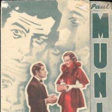 Cine: PROGRAMA DOBLE -BARRERAS INFRANQUEABLES - PAUL MUNI, BETTE DAVIS - WB - CINE VICTORIA (MÁLAGA) 1939. Lote 168897532