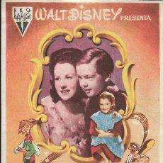 Cine: PROGRAMA DE CINE - WALT DISNEY - CANCIÓN DEL SUR - RKO RADIO FILMS - CINE ECHEGARAY (MÁLAGA) - 1946.. Lote 168915460