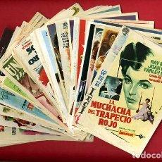 Cine: LOTE DE 120 PROGRAMAS DE CINE ANTIGUOS , CON CINE IMPRESO EN REVERSO , VER FOTOS , ORIGINALES , L68. Lote 168949428