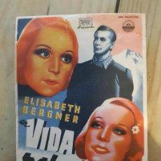 Cine: ANTIGUO PROGRAMA CINE VIDA ROBADA MURCIA 1943. Lote 168962572