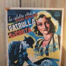 Cine: ANTIGUO PROGRAMA CINE PATRULLA SECRETA MURCIA 1942. Lote 168964096