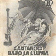 Cine: PROGRAMA DOBLE - CANTANDO BAJO LA LLUVIA - GENE KELLY, DEBBIE REYNOLDS - MGM - CINE MODERNO (MÁLAGA). Lote 168991420