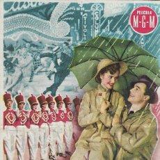Cine: PROGRAMA DE CINE - CANTANDO BAJO LA LLUVIA - GENE KELLY, DEBBIE REYNOLDS - MGM - PRINCIPAL CINEMA . Lote 168991920