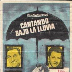 Cine: PROGRAMA DE CINE - CANTANDO BAJO LA LLUVIA - GENE KELLY, DEBBIE REYNOLDS - MGM - CINE ALBÉNIZ 1965. Lote 168992780