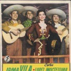 Cine: PROGRAMA DE CINE - CANTA Y NO LLORES - IRMA VILA - CINE CAPITOL, DUQUE Y PLUS ULTRA (MÁLAGA) - 1949.. Lote 168993632