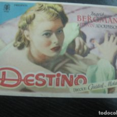 Cine: PROGRAMA DE CINE.DESTINO. INGRID BERGMAN. Lote 169003348
