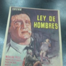 Cine: PROGRAMA DE CINE.- LEY DE HOMBRES. MICHELINE PRESLE, PHILIPPE LEROY.. Lote 169022160