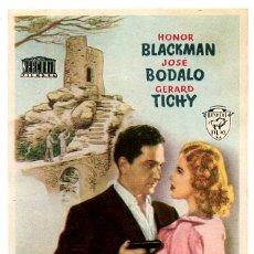 Flyers Publicitaires de films Anciens: MANCHAS DE SANGRE EN LA LUNA , SIN CINE , SENCILLO , ORIGINAL , PMD 546. Lote 169038324