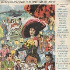 Cine: PROGRAMA DE CINE - CARRUSEL NAPOLITANO - SOPHIA LOREN - CINE AVENIDA - 1954.. Lote 169066336