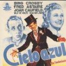 Cine: PROGRAMA DE CINE - CIELO AZUL - BING CROSBY, FRED ASTAIRE - CIFESA - CINE AVENIDA (MÁLAGA) - 1946.. Lote 169072424