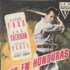 Cine: PROGRAMA DE CINE - CITA EN HONDURAS - GLENN FORD, ANN SHERIDAN - RKO RADIO FILMS - CINE ECHEGARAY . Lote 169076224