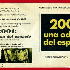 Foglietti di film di film antichi di cinema: 2001 : UNA ODISEA DEL ESPACIO , DOBLE , GRANDE , CON CINE , PMD 913. Lote 207481558