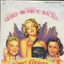 Cine: PROGRAMA DE CINE - CÓMO CASARSE CON UN MILLONARIO - MARILYN MONROE - 20TH CENTURY FOX - CINE GOYA.. Lote 169260204
