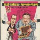 Cine: PROGRAMA DE CINE - COMPAÑEROS DE FATIGAS - ALDO FABRIZI, PEPPINO DE FILIPPO - CINE AMÉRICA BARCELONA. Lote 169264604