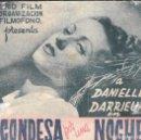 Cine: PROGRAMA DOBLE - CONDESA POR UN DÍA - DANIELLE DARRIEUX - CINE ALKAZAR (MÁLAGA) - 1941.. Lote 169265356